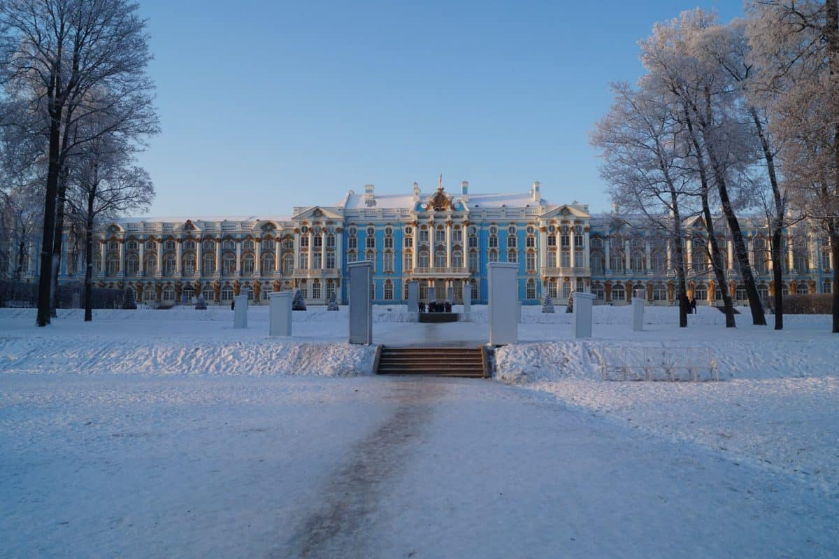 Catherine Palace, St. Petersburg in winter