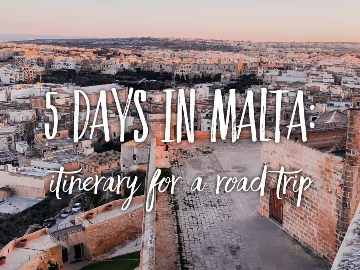 5 day itinerary for Malta in winter or spring. Christmas in Malta.