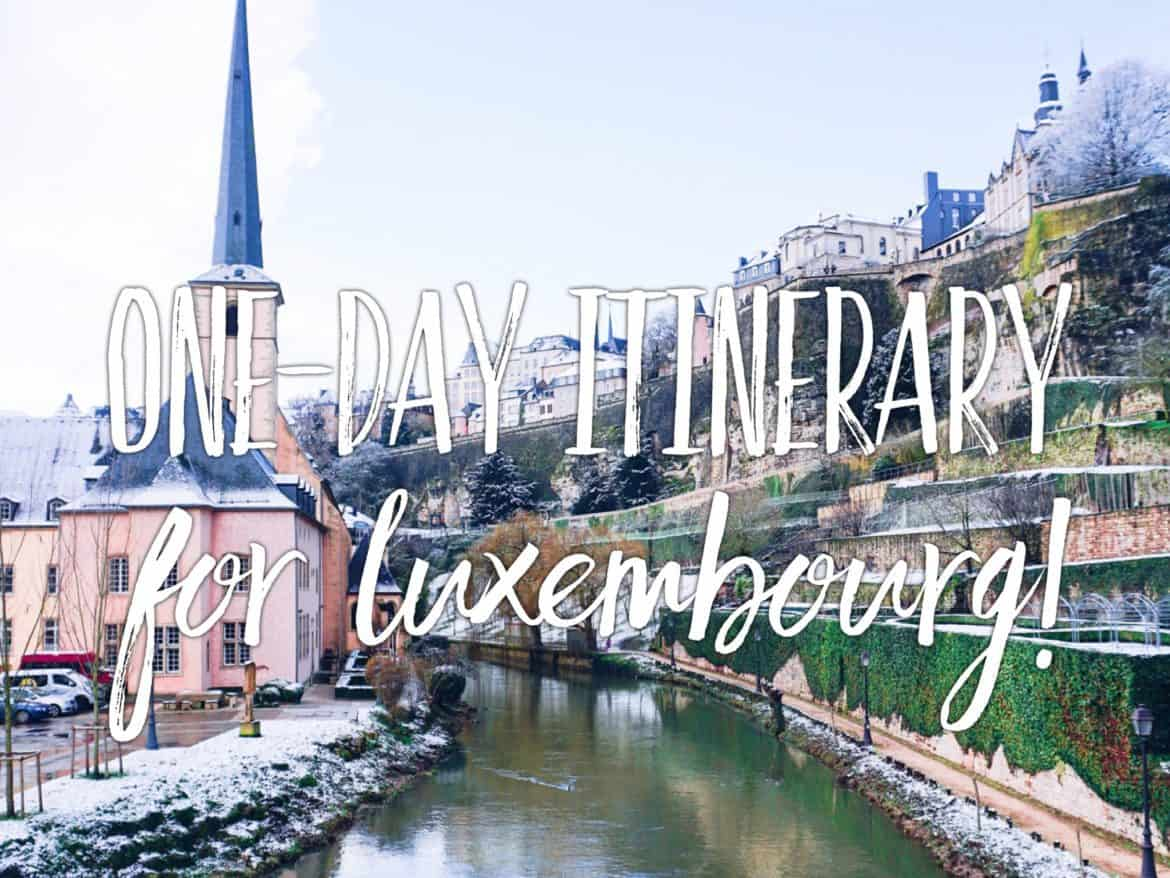 One day in Luxembourg in winter or spring
